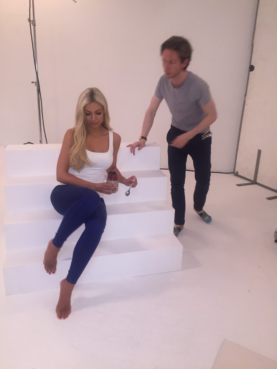 Eat Yourself Beautiful Book Shoot Day 3 - Cover Shoot - Behind the Scenes