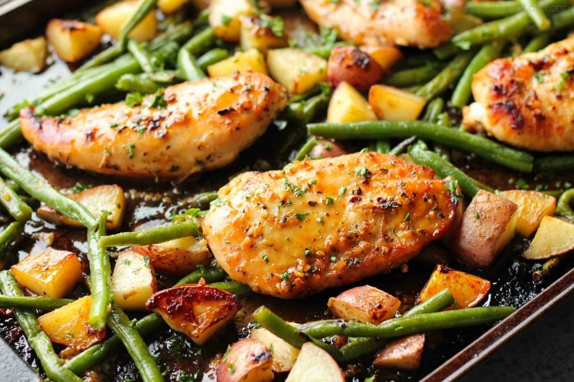 One-Pan-Honey-Garlic-Chicken-and-Vegetables-4