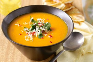 pumpkin-and-sweet-potato-soup-with-coriander-sambal-cumin-flatbread-70759-1